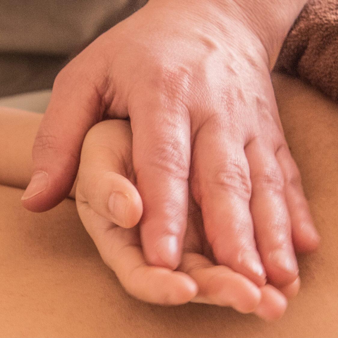Massage van de handen